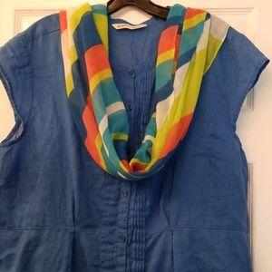 Linen blend blue dress!